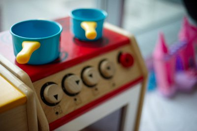 Cooking pots toy - Play services