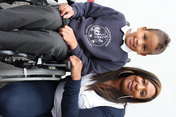 Jude and mum Nadine - spina bifida real story