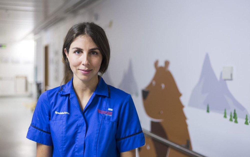 Nurse Caitlin in Bear Ward