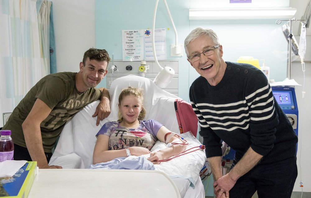 Sarah, her dad, and Paul O'Grady