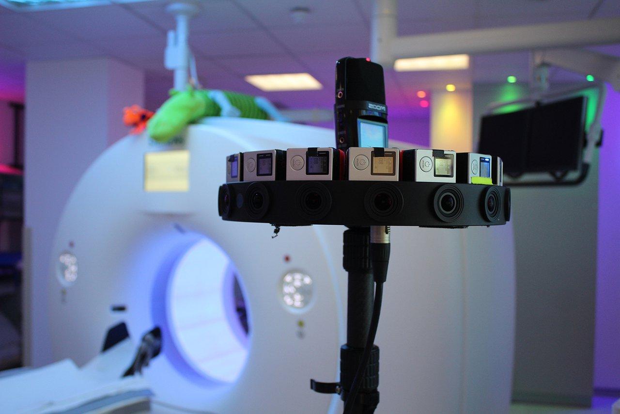 VR next to an MRI