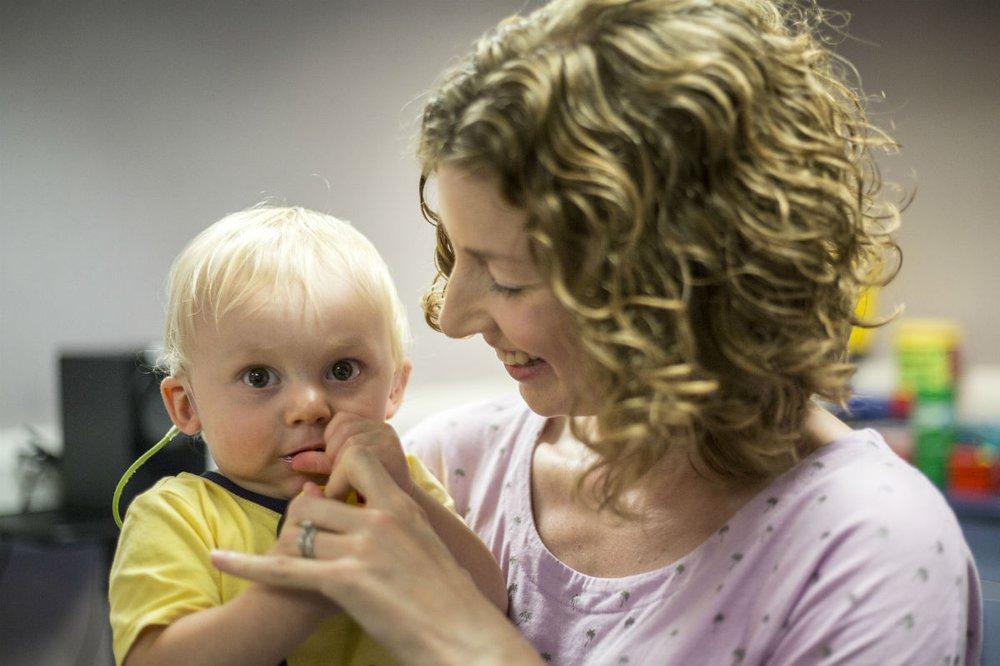Patient Alex with his mum