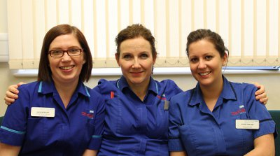 Kate Morgan, Clare Gilbert, Louise Hinchey (Clinical Nurse Specialists, CHI)