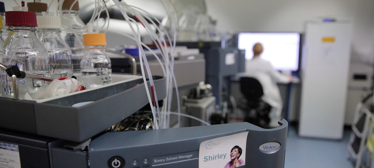 Gene sequencing machine in the biomedical research centre
