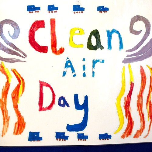 Clean air sign drawing