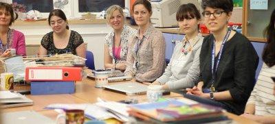 Hospital School - Seven teachers around the table