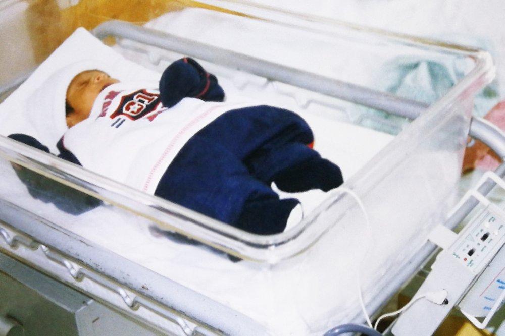 Yaseer as a baby in ICU