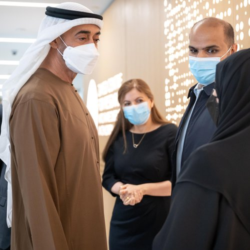 Crown Prince of Abu Dhabi meets families at the Zayed Centre for Research into Rare Disease in Children.