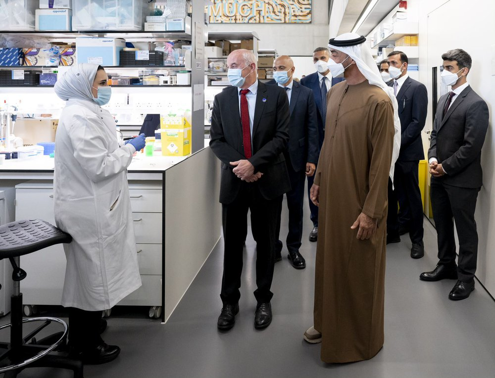 His Highness Sheikh Mohamed bin Zayed Al Nahyan, Crown Prince of Abu Dhabi, visiting the ZCR.