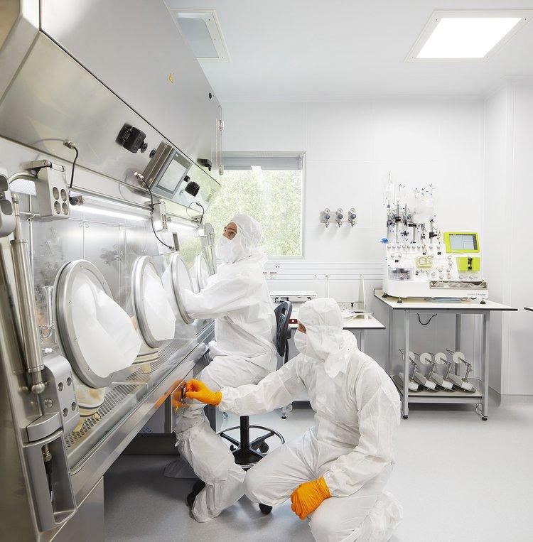 Lab technicians in GOSH laboratory