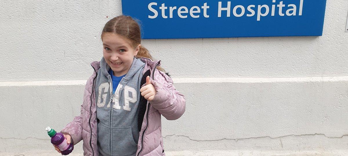 Patient Sara outside GOSH