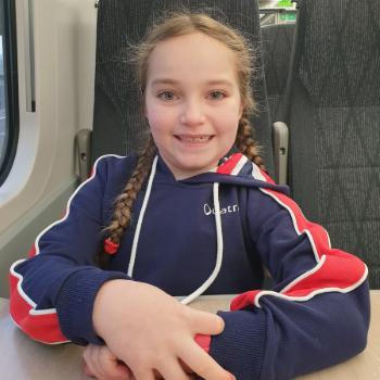 Patient Sara on the train
