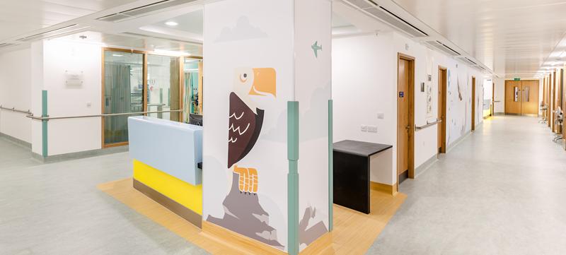 Eagle Ward artwork at Great Ormond Street Hospital