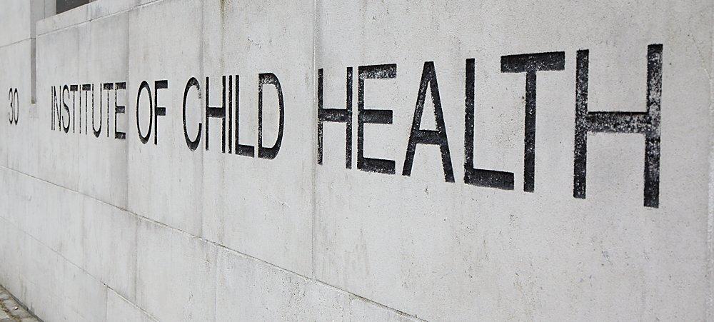 Institute of Child Health sign