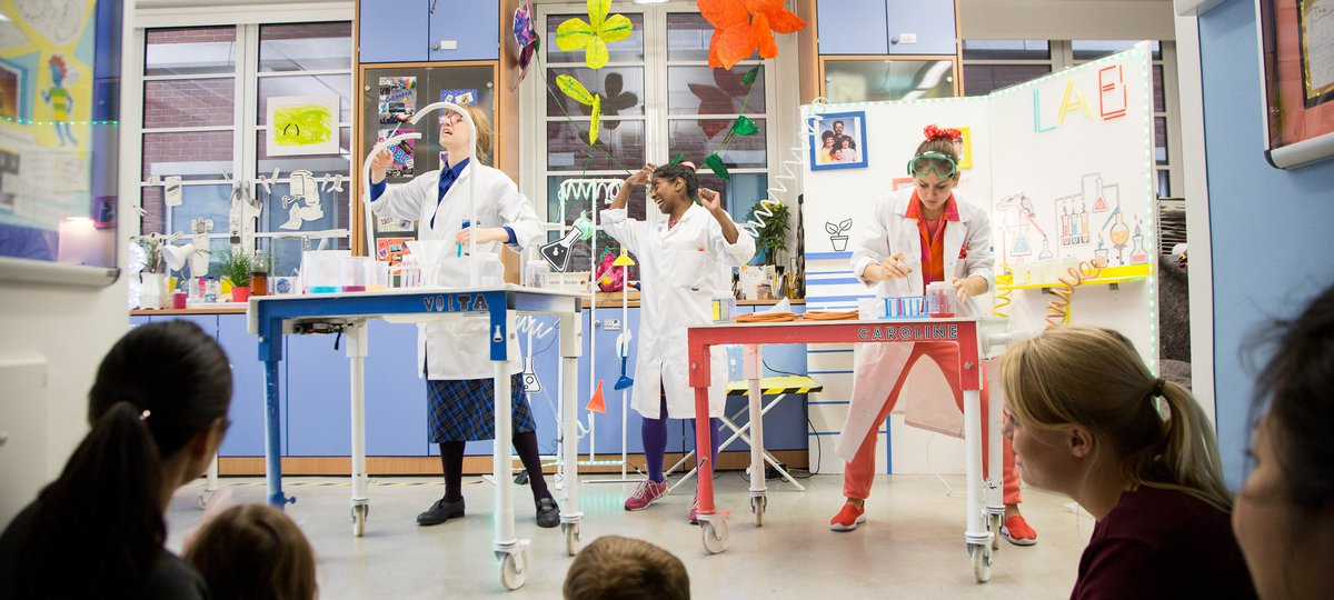 Performers put on a show for children at Great Ormond Street Hospital's Famiyl Arts Week