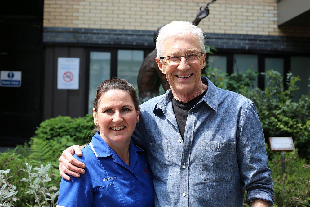 Paul O'Grady with nurse