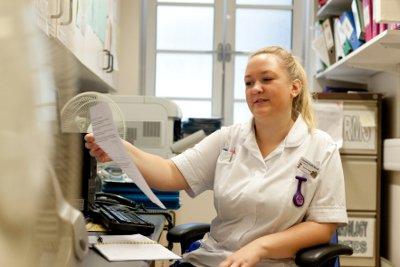 Nurse Anna in office