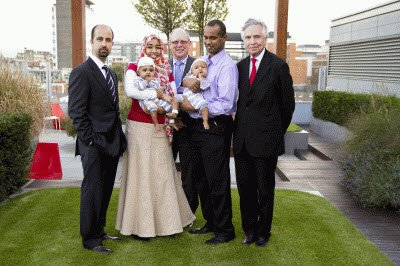 The Gaboura family with the GOSH surgeons