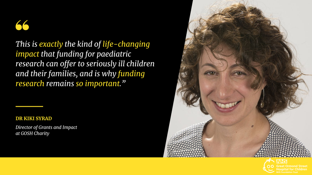 Kiki Syrad, Director of Grants and Impact at GOSH Charity